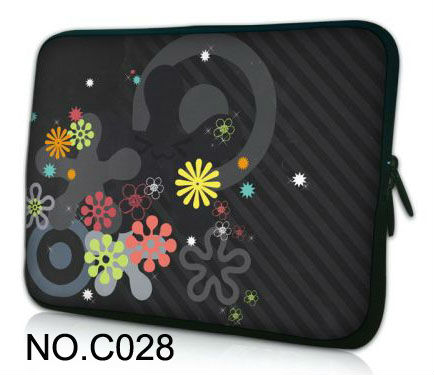 "Classics flowers 12"" Neoprene Laptop Sleeve Bag Soft Case Cover For Apple iBOOK/Macbook Air(China (Mainland))"