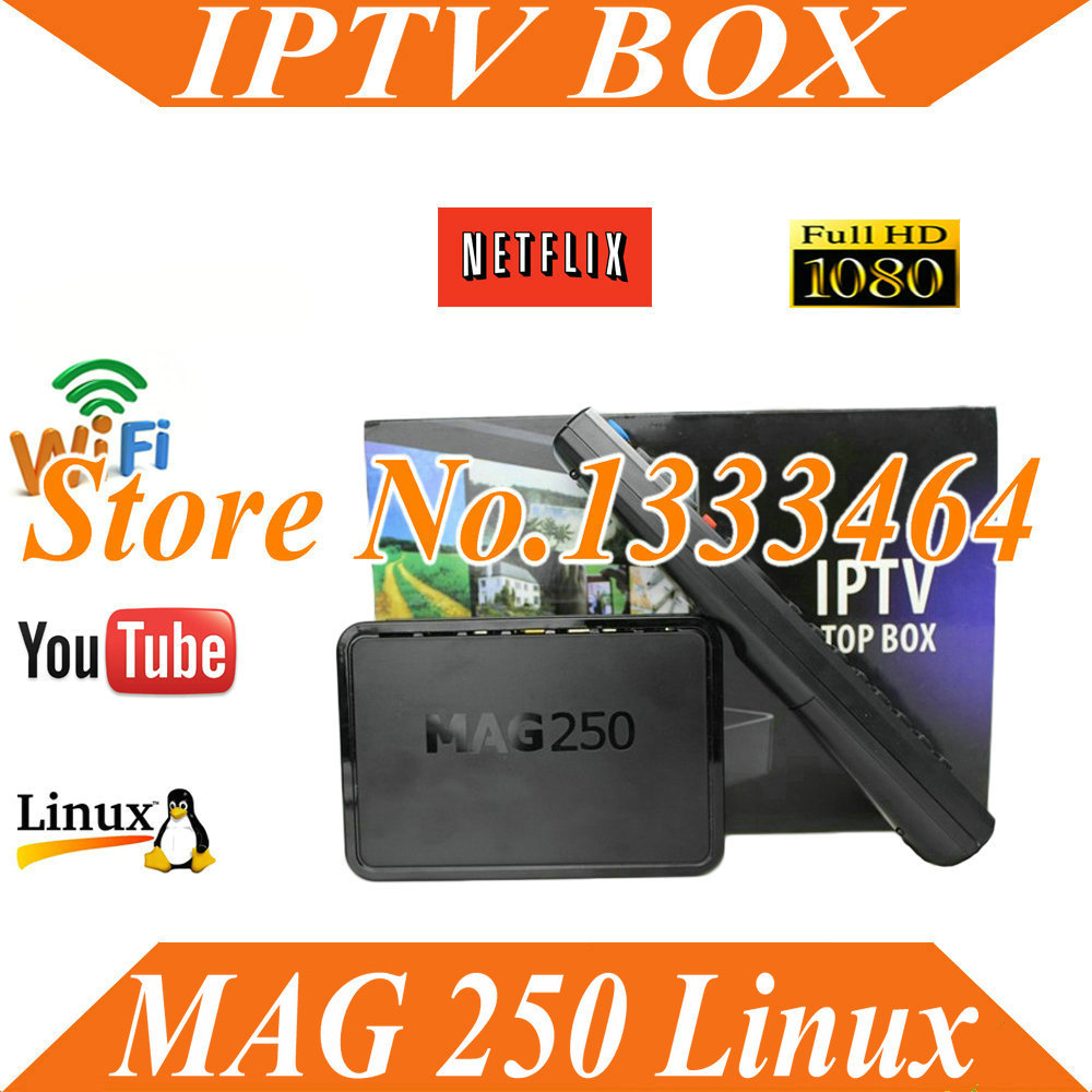 2015 New mini pc linux Mag MAG 250 Tv Box Linux Operating System Iptv Set Top Box HD satellite receiver(China (Mainland))