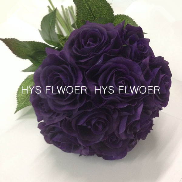 free shipping latex real touch rose artificial flower for weddings decoration(China (Mainland))