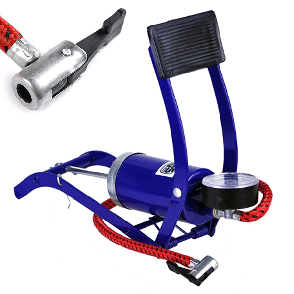 Hot mini motorbike pump bicycle basketball inflatable pump tire pressure car air pump compressor foot pump(China (Mainland))