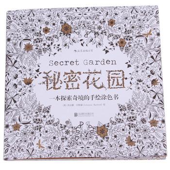 20 страниц секретный сад в Inky охота за сокровищами книжка-раскраска для взрослых Kid снять стресс убийство срок граффити рисунок книга EJ874013