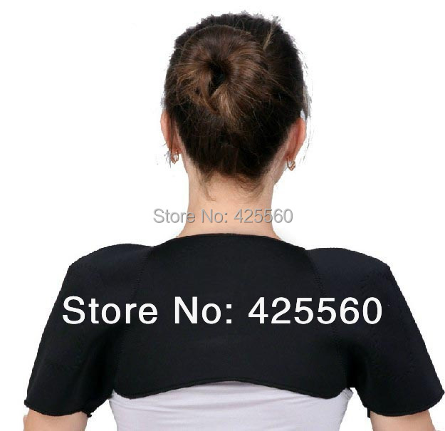 3 Pieces Tourmaline Shoulder Heating Massage Magnetic Therapy Shoulder Pad(China (Mainland))