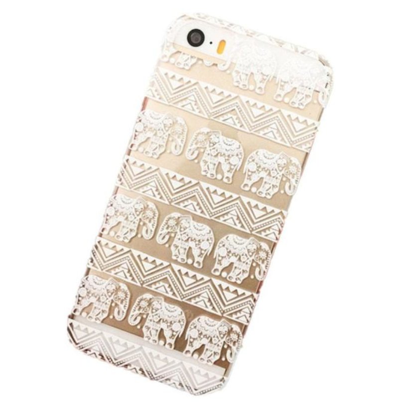 Hot-sale Gifts Wholesale Phone Back Case Cover Henna Lotus Floral Elephant Hindu Ganesh Case Cover For iPhone SE/5/5S(China (Mainland))
