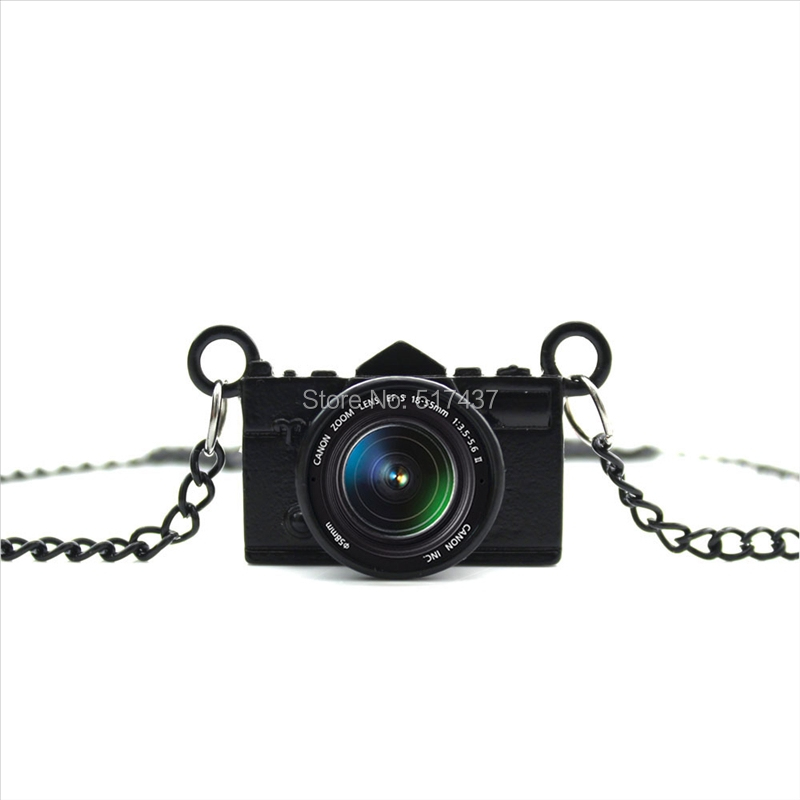 New Arrived DIY Best Lens Necklace Glass Picture Pendant Jewelry Black Camera Pendant Photography Necklace CA--03(China (Mainland))