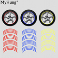 3M Reflective Tape Car Motorcycle Rim Stripe 16 17 Wheel Decal Stickers Car Accessories Car Rim