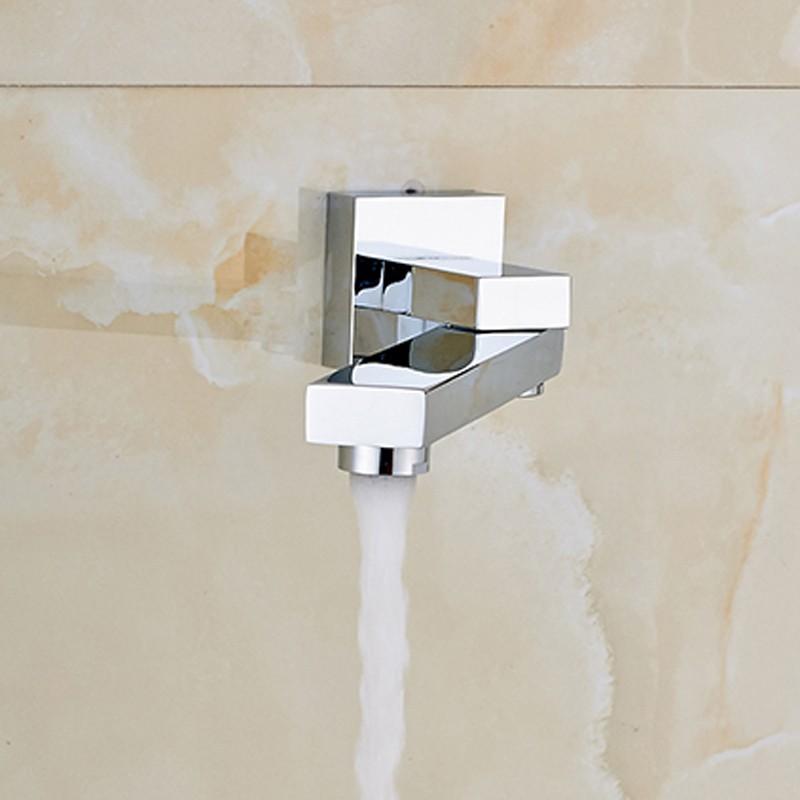 Купить Хром Полированный Ванная Комната Ванной Кран Одной Ручкой Смеситель Поворотным Изливом Смесителя