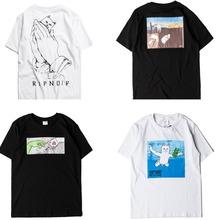 Ripndip T Shirt Men Women Couple Summer Noah Skateboard T-shirts Rip n Dip Pocket Cat Tee Short Sleeve Flag GD Ripndip T Shirts