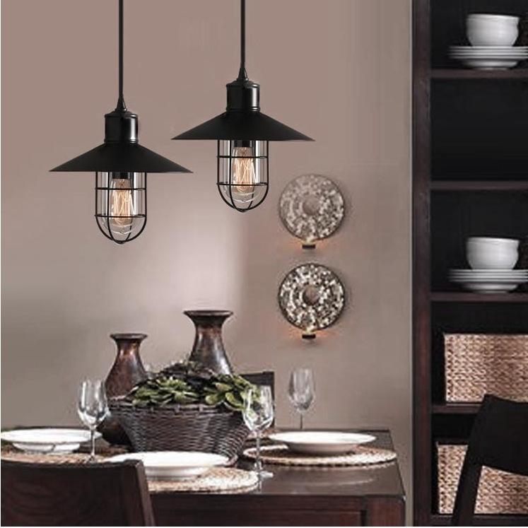 American stylish restaurant dining room chandelier light bar lamp post-modern living room creative wrought iron balcony lighting<br><br>Aliexpress