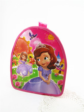 Sofia The First Disny Kids 1-3Years Old School Backpack Zipper Bag For Kids Birthday Party Gift Favor(China (Mainland))