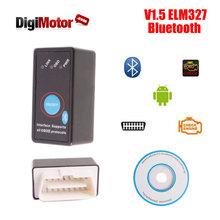 V 1.5 Mini ELM327 Bluetooth v1.5 ELM 327 v2.1 OBD2 Adapter Diagnostic Scan Tool OBD 2 Scanner Automotive Escaner Automotriz(China (Mainland))