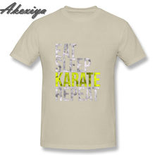 Eat Sleep каратэ Повторите смешные футболки модный поп O образным вырезом натуральный хлопок MenT-shirt fortnight Джокер Винтаж принт футболка Homme(China)