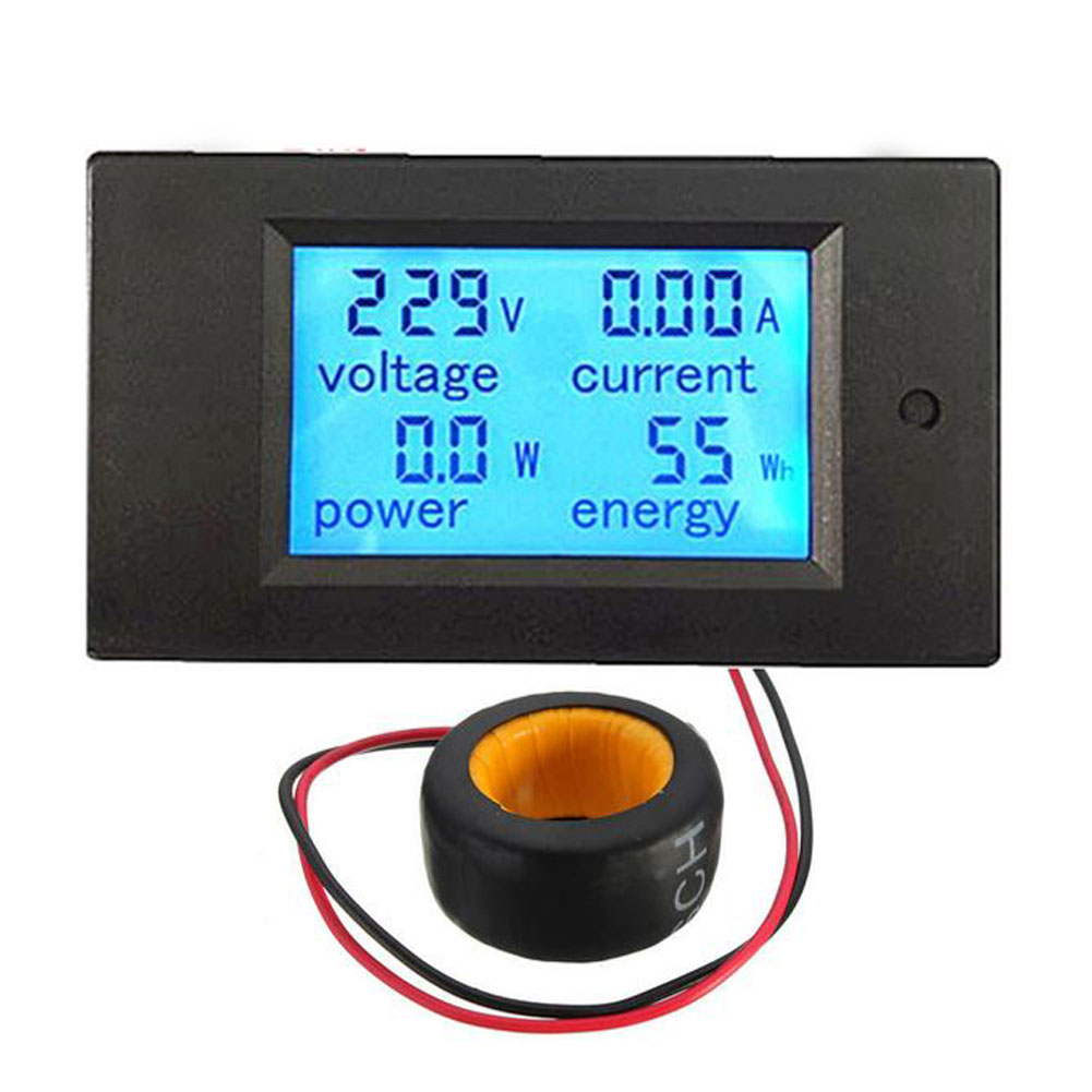 Lowest Promotion Price AC 100A Digital LED Power Panel Meter Monitor Power Energy Voltmeter Ammeter CA1T(China (Mainland))