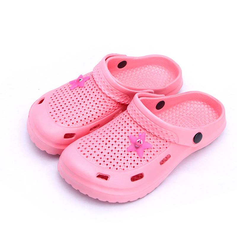 New Summer children garden shoes girls Boys EUR24-35 summer slippers for kids Babies Sandals