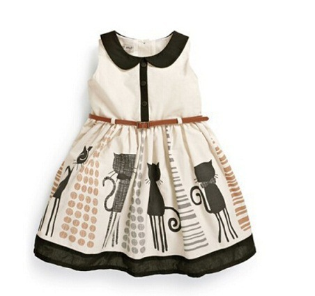 Designer Dress Patterns For Children Designer baby girls dress cat