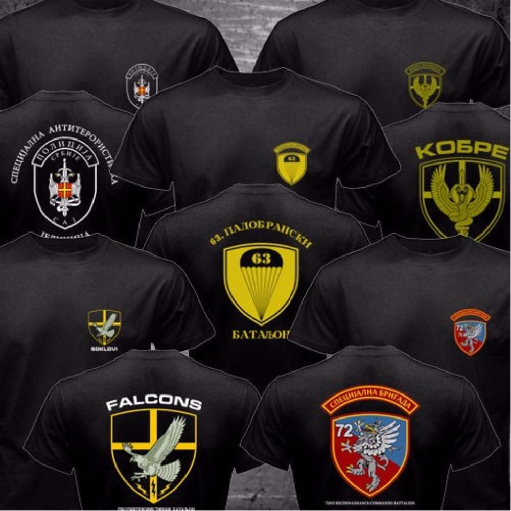 2016 Summer Serbia Special Forces Police Anti Terroris Unit Army CAJ Falcons Cobra T-shirt Funny Short Sleeve Black O Neck Shirt(China (Mainland))
