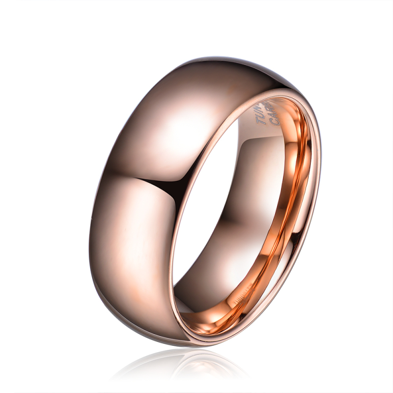 rose gold tungsten carbide ring comfort fit jewelry for women wedding