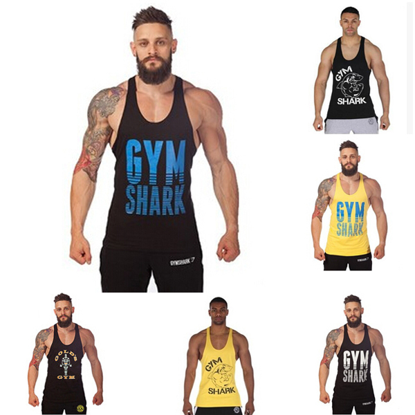 Summer Stly Men's Stringer Tank Top Fitness Clothings Men Sleeveless Shirt Vests Cotton Singlets Muscle Tops - Lucky No. 25 store