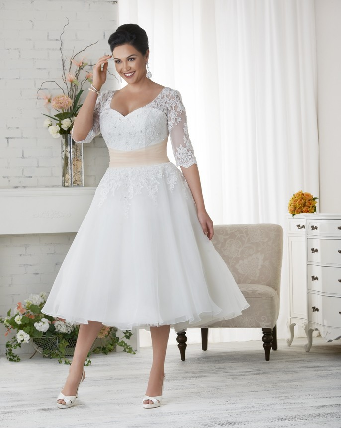 Compare Prices on Plus Size Wedding Dresses Short- Online Shopping ...