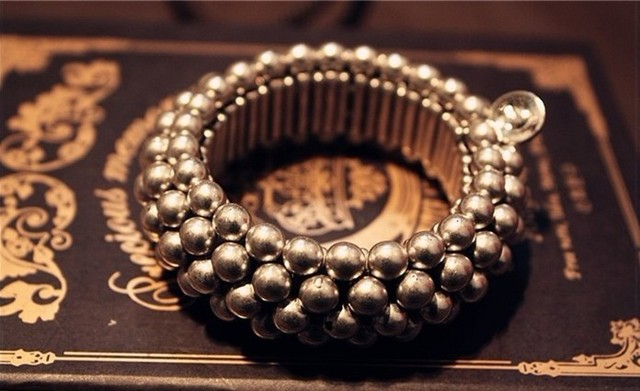 Punk style Charm jewelry pearl stretch bracelet bangles famous brand tension beaded bracelet 1lot/15pcs