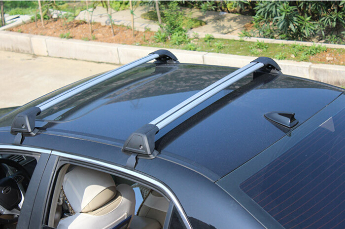 Aluminum Style car roof rack bar baggage luggage rack bars No Drilling Required Universal With Lock by EMS(China (Mainland))