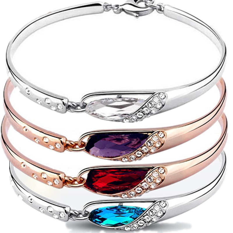 Ms Korea crystal bracelet the little girl's favorite water glass shoes high-grade bangle bracelet accessories wholesale summer(China (Mainland))