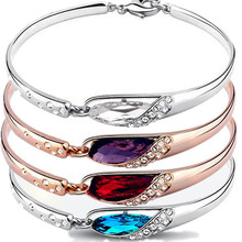 Ms Korea crystal bracelet the little girl's favorite water glass shoes high-grade bangle bracelet accessories wholesale summer