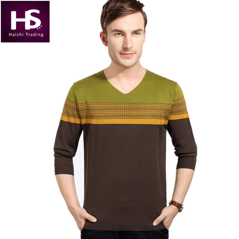 2015 new autumn fashion v neck sweater men long sleeve for Mens long sleeve pullover shirts