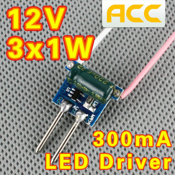 3X1W LED driver 12V MR16 driver 3*1W for MR16 lamp cup drive 3pcs 1W LED high power lamp bead Free shipping(China (Mainland))