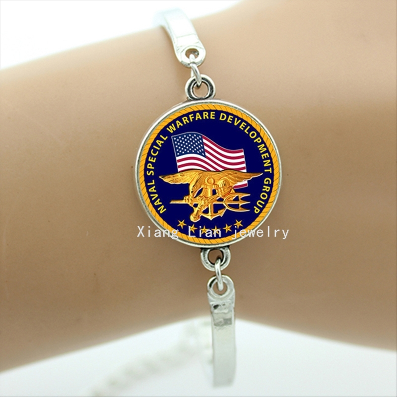 Wedding hand accessory military bracelet NAVAL SPECIAL WARFARE DEVELOPMENT GROUP American flag accessory for Patriotic MI003(China (Mainland))
