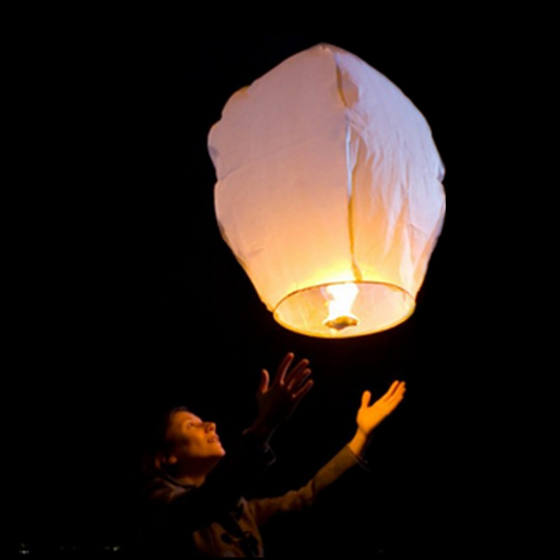 100PC Large Giant White Chinese Sky Lantern/ Flying Lantern / Fire Balloon For Wedding Party Make Wishes For celebrate Proposal(China (Mainland))