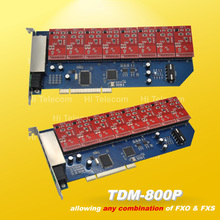 Free drivers TDM800P 8 Ports 8 FXO asterisk card for voip ippbx ip pbx elastix trixbox call center(China (Mainland))