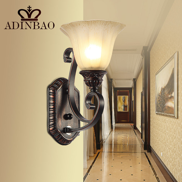 Rustic Iron Wall Sconce Corridor Led Wall Light Outdoor Indoor Wall Lamp WL002 1-in Wall Lamps ...