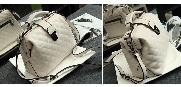 Shunvbasha Fashion Women PU Leather Handbags 2016 Famous Brand Desinger Hasp Doctor Shoulder Bag Crossbody Messenger Bags White