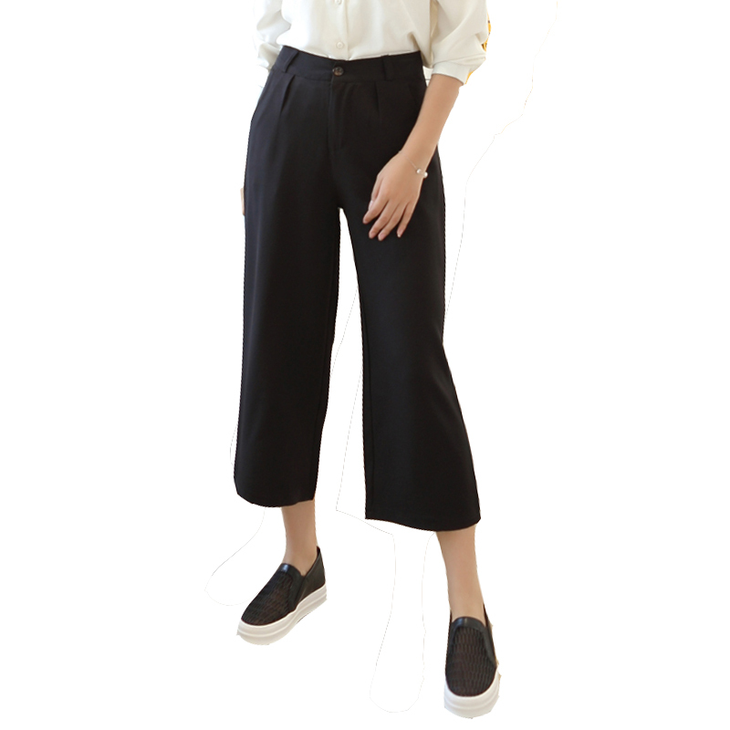 Online Buy Wholesale black wide leg dress pants polyester women ...