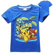 Pokemon Go Baby Мальчики Футболки 2016 Лето мода Новый Мультфильм Дети Топы Подростковая Одежда Для Мальчиков Одежда для Новорожденных дети тройники(China (Mainland))