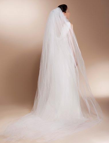 mantilla veils long veil wedding hair with veil(China (Mainland))