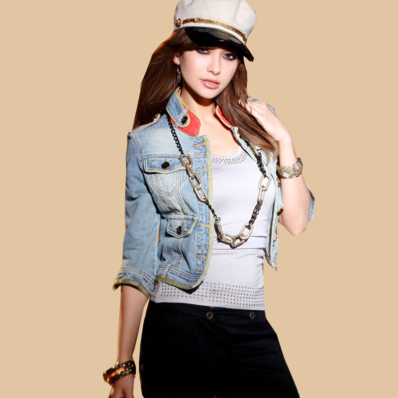 Popular Denim Jacket Half Sleeves-Buy Cheap Denim Jacket Half ...