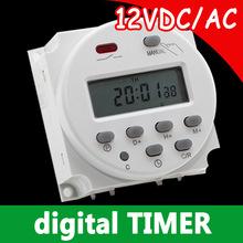 7 дн. программируемый цифровой 12 В постоянного тока таймер с 4 изоляцией гнездами как подарок, Бесплатная доставка