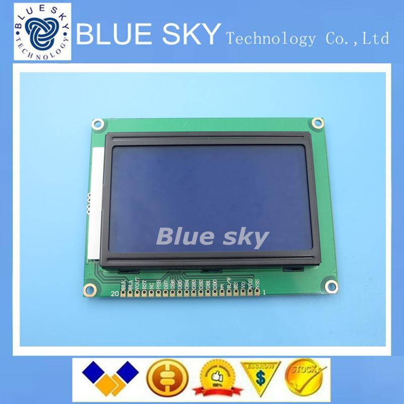 Здесь можно купить  Free shipping ! 5pcs/lot 128*64 DOTS LCD module 5V blue screen 12864 LCD with backlight ST7920 Parallel port  Электронные компоненты и материалы