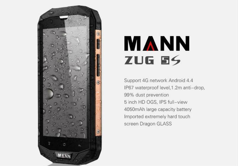 "Original MANN ZUG 5S 4G LTE Smartphone Android 4.4 MSM8926 Quad Core 5"" screen 4050mAh ZUG3 IP67 Rugged waterproof Mobile phone(China (Mainland))"