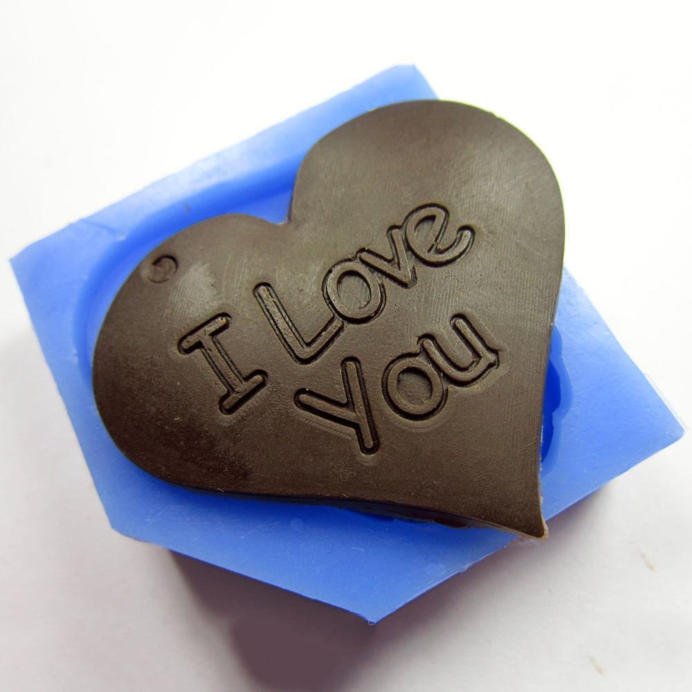 Free shipping soap chocolate cake silicone Candy mould face heart-shaped LOVE I Love You(China (Mainland))
