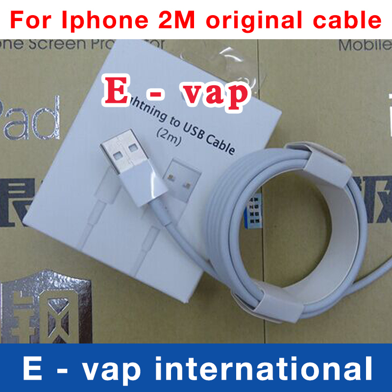 Free shipping 2m 100% Genuine 8Pin USB Data Sync Charger Cable Lead For Apple iPad 4 ipad mini iPhone 5 5c 5s 6 Original Cable(China (Mainland))