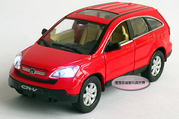 New 1:32 Honda CRV Alloy Diecast Model Car With Sound&Light Toy Collection Red B222b(China (Mainland))