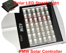 High Quality DC 24V Street Light Solar Energy LED street Light 42W with Solar PMW controller Solar Lamps LED Street Light 42W(China (Mainland))