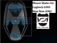 Teflon 3M Mouse Skates / Mouse Feet for Logitech G302 G303 New G302 high quality(China (Mainland))