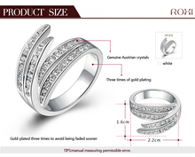 ROXI Christmas Gift rose gold platinum plated ring Austrian Crystals Ring Nickle free Antiallergic Factory prices