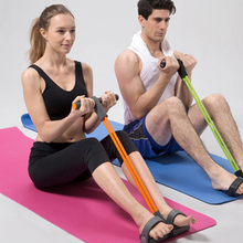 New 2015 Pilates Resistance Band Pedal Exerciser Pull Up Yoga Body Trimmer Exerciser Gut Buster Pull Fitness Exerciser Crossfit