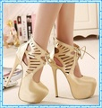 Women Summer Boots 2015 Lace White Pumps Women Party Shoes Platform