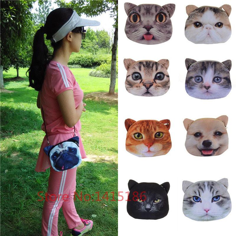 Free shipping! Hot bag 2014 for women fashion 3D print head Maotou animal pattern Handbag Shoulder Bag meow star Satchel(China (Mainland))