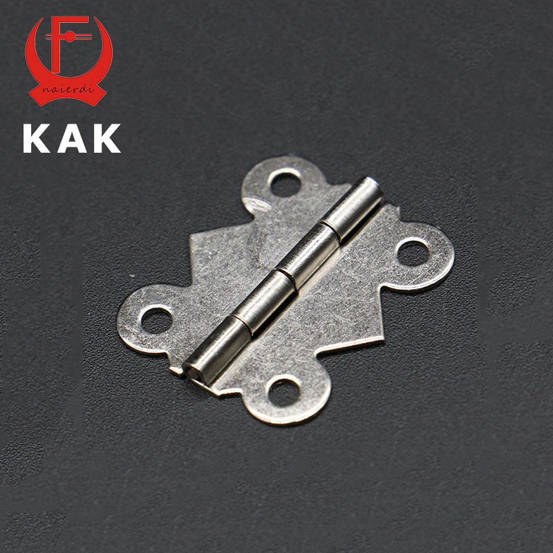 50pcs KAK 29mm x 25mm Bronze Gold Silver Mini Butterfly Door Hinges Cabinet Drawer Jewellery Box Hinge For Furniture Hardware(China (Mainland))